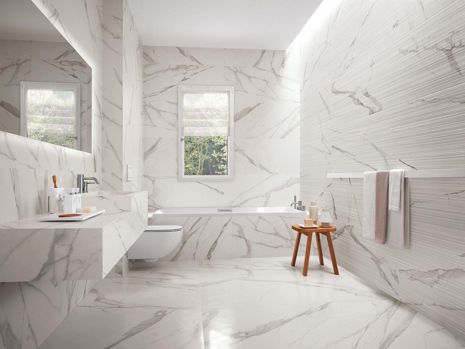 Piastrelle in gres scegliere il fascino eterno del marmo e della