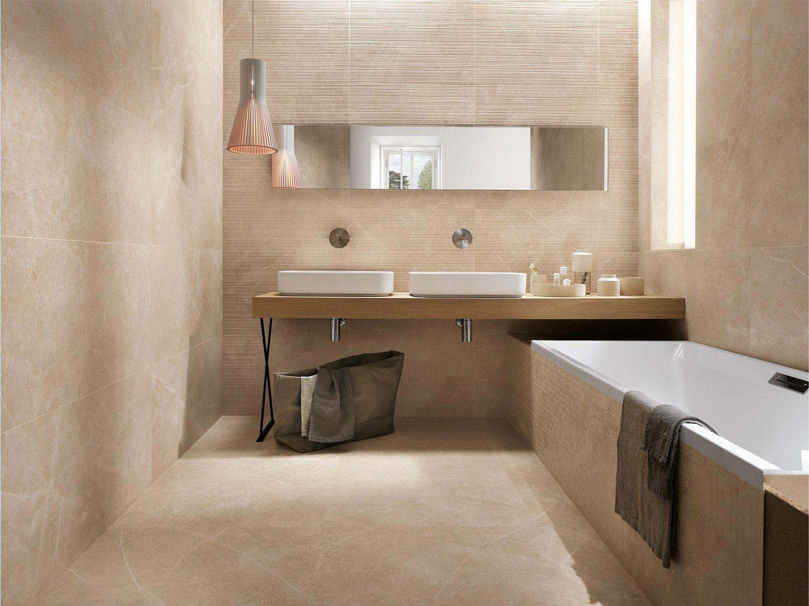 Piastrelle in gres scegliere il fascino eterno del marmo - Rivestimento bagno effetto marmo ...