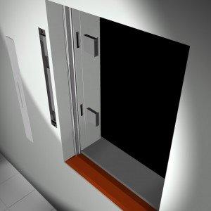 Sistema di aerazione decentralizzato ActiveVent di Finstral (nella versione inserito nella muratura adiacente la finestra).