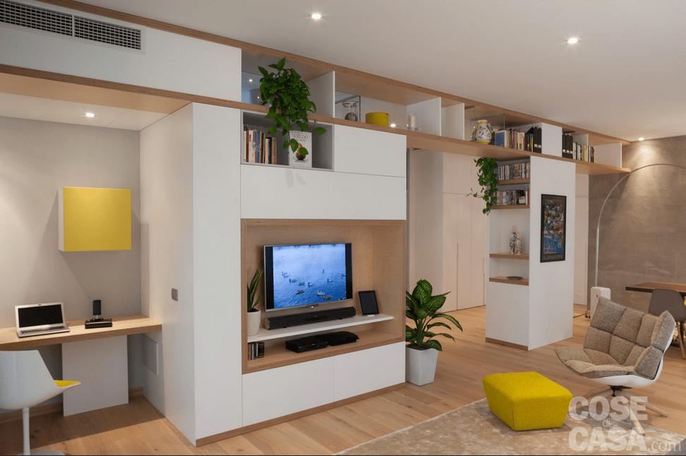 Favorito Open space con parete multifunzione. Guarda il video della casa  OI56