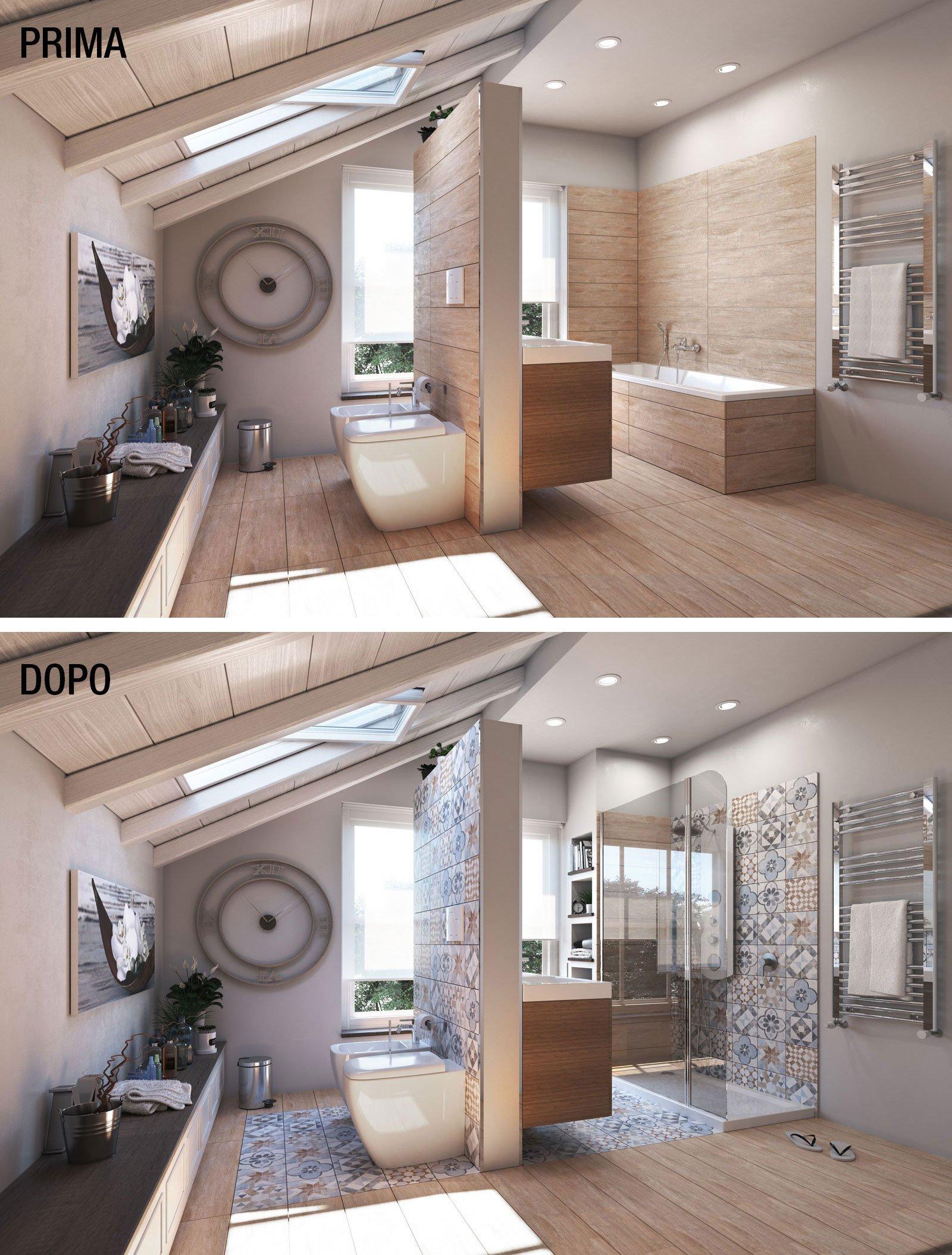 Bagno trasformare la vasca in doccia cose di casa - Vasca da bagno grande ...