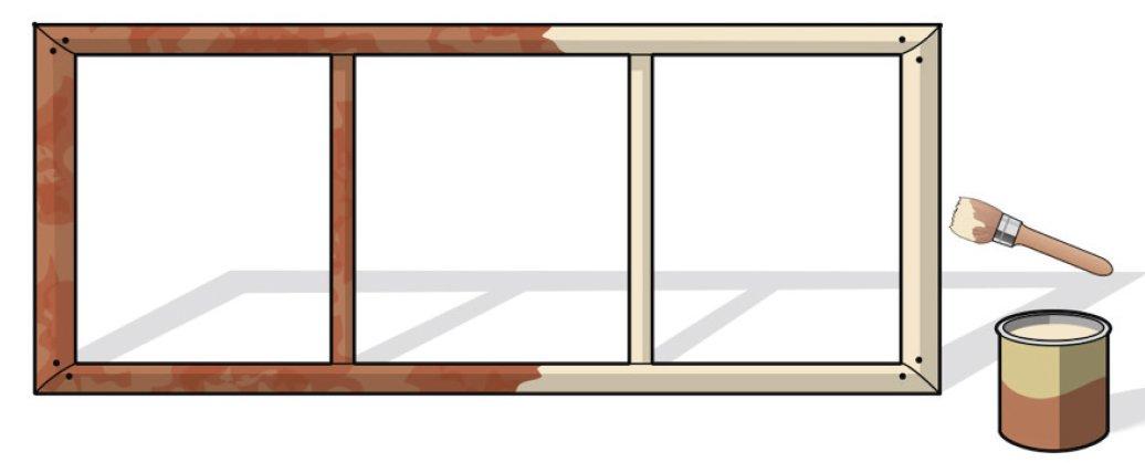 Graticci fai da te per i rampicanti cose di casa - Dividere una porta finestra ...