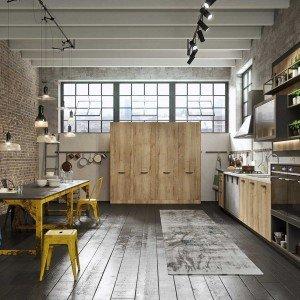 Loft, disegnata da Marcon, è una cucina Snaidero che fa parte della Collezione Sistema.