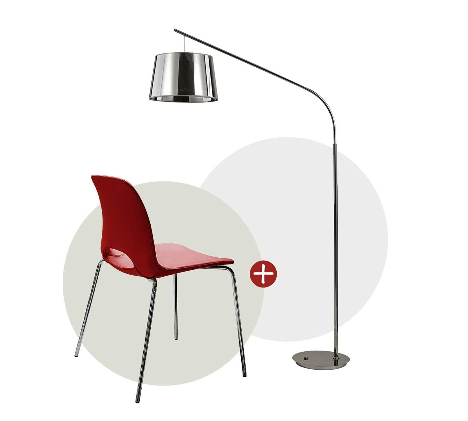 Katia di Riflessi ¨ una sedia super leggera in poliuretano rigido con un apertura nello schienale Misura L 55 x P 51 x H 79 cm □ Daddy