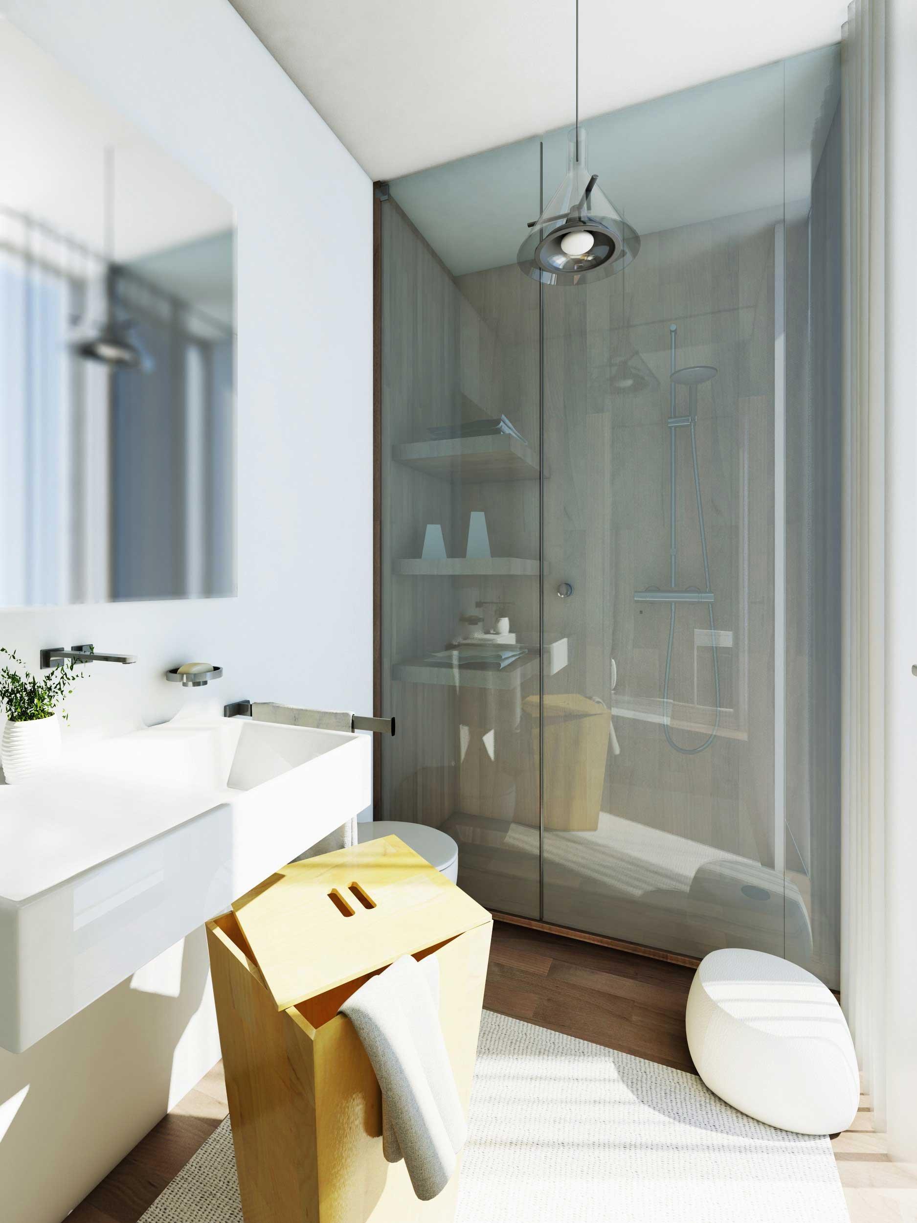 Progetti in 3d e in pianta due soluzioni alternative per - Scaldare il bagno elettricamente ...