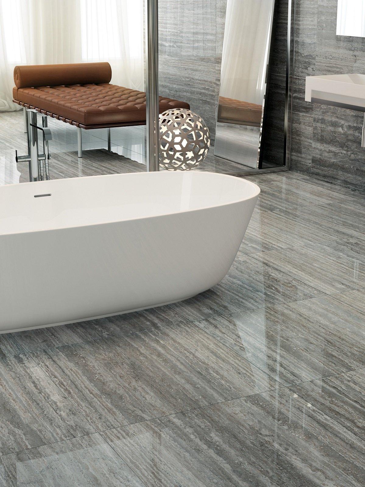 Pavimenti per il bagno: gres in tante versioni, diversissime per ...