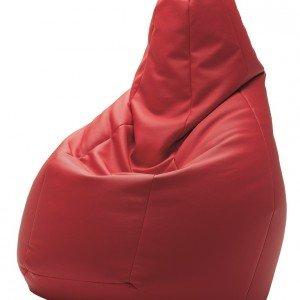 Sacco poltrona rossa di Zanotta con seduta morbida disegnata da Gatti, Paolini, Teodoro