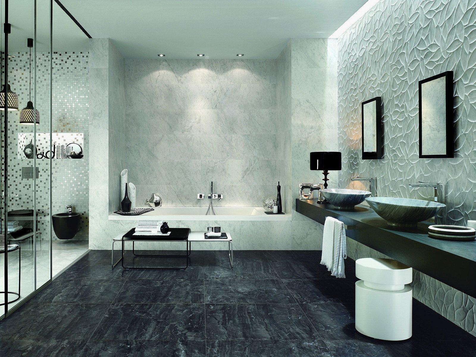 Pavimenti per il bagno gres in tante versioni diversissime per