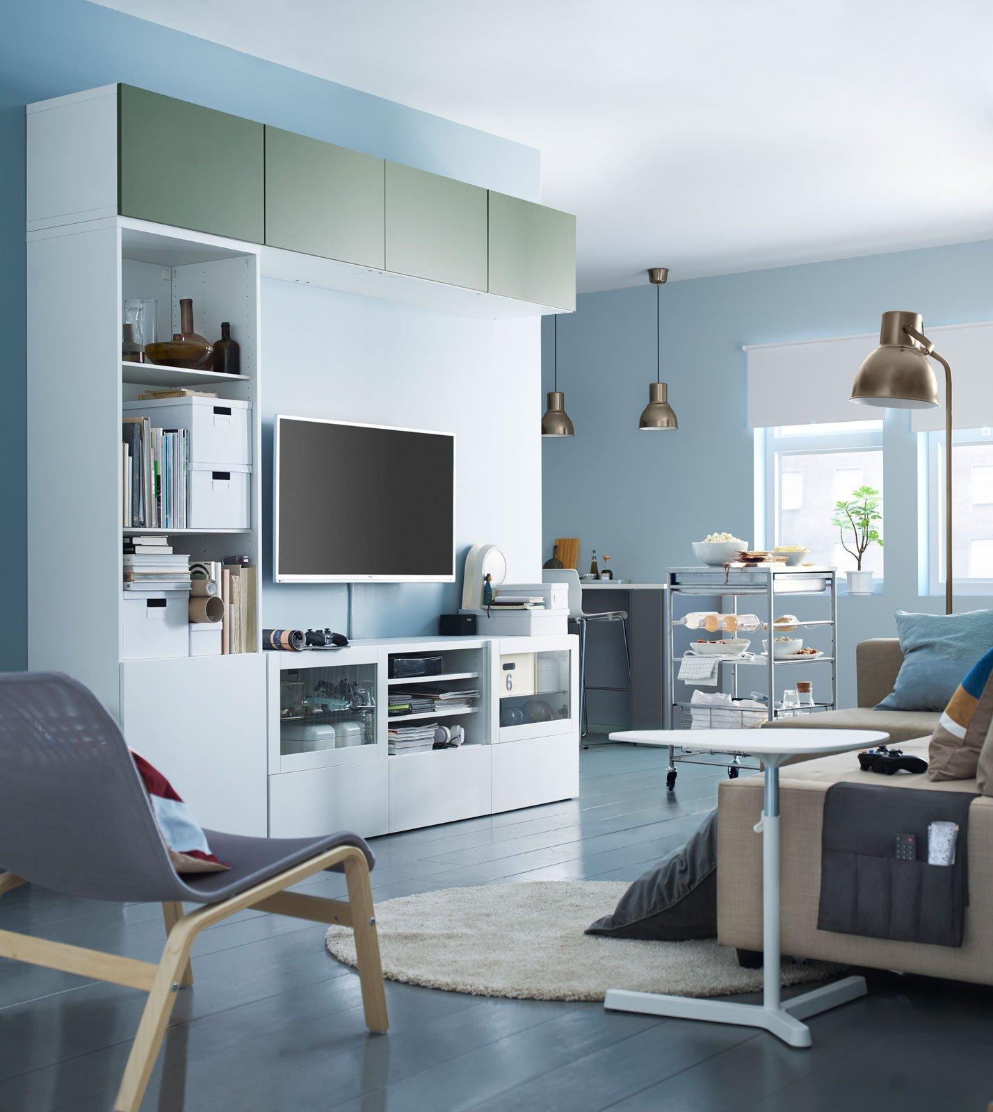 mobile soggiorno 14 soluzioni miste per arredare il living cose di casa. Black Bedroom Furniture Sets. Home Design Ideas