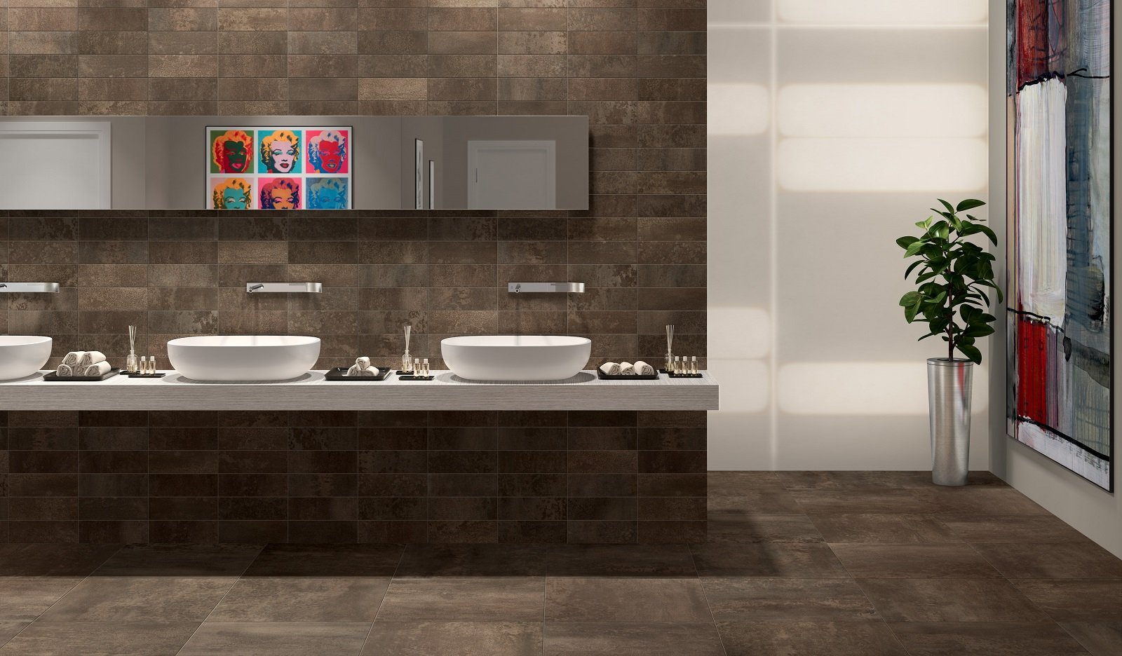 Pavimenti per il bagno gres in tante versioni diversissime per gusto e stile cose di casa - Ceramiche bagno prezzi ...