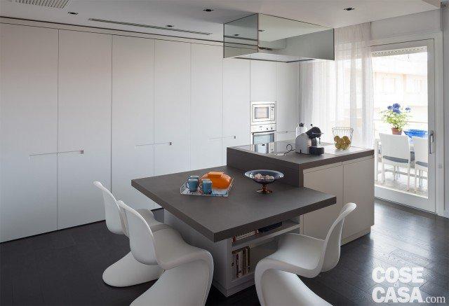 75 mq una casa con geometrie in bianco e nero cose di casa - Altezza tavolo cucina ...