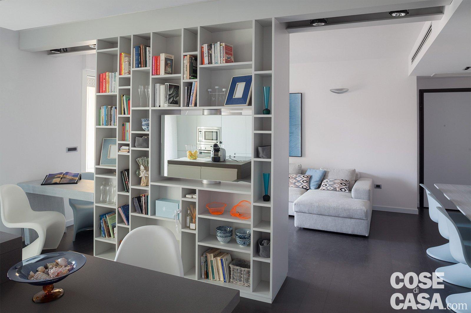 75 mq una casa con geometrie in bianco e nero cose di casa for Pareti giapponesi