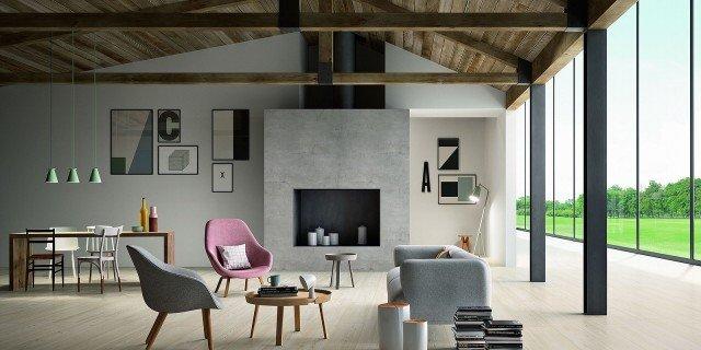 Pavimenti per il soggiorno: marmo, effetto marmo ed estetica legno ...