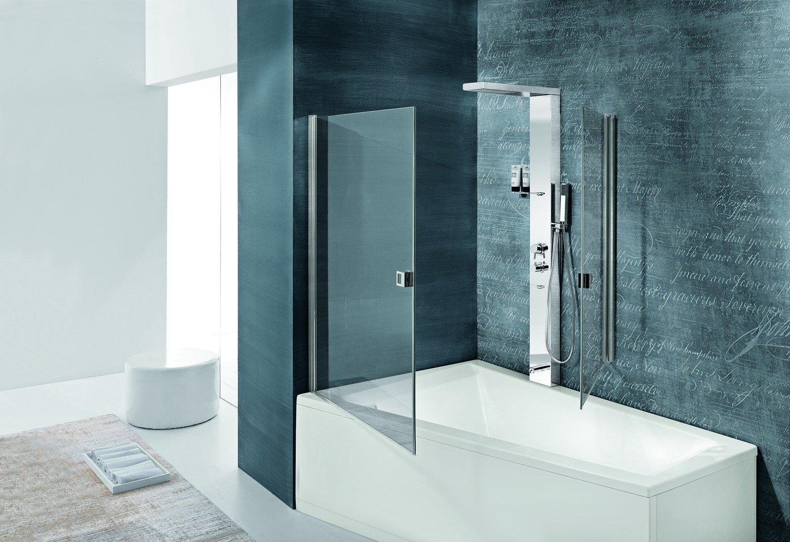 Salvaspazio la vasca con doccia cose di casa - Vasca da bagno acciaio prezzi ...