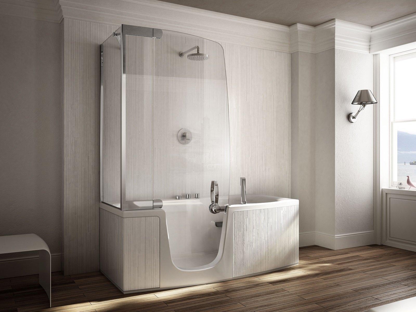 Salvaspazio la vasca con doccia cose di casa for Vasca e doccia combinate