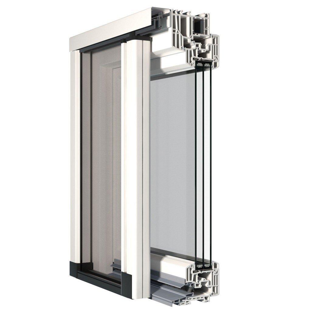 Una zanzariera perfettamente integrata nella finestra for Zanzariera porta finestra
