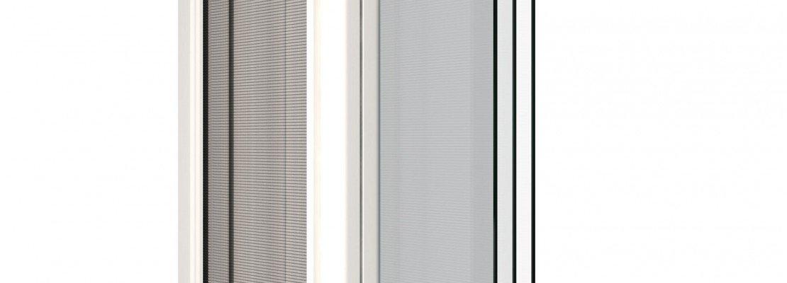 Una zanzariera perfettamente integrata nella finestra for Finestra nella dacia
