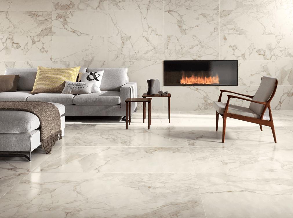Piastrelle Per Soggiorno : Pavimenti per il soggiorno marmo effetto ed ...