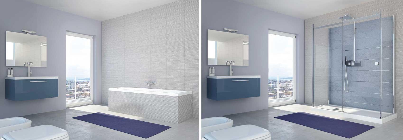 Da vasca a doccia un risparmio tangibile - Soluzioni vasca doccia ...