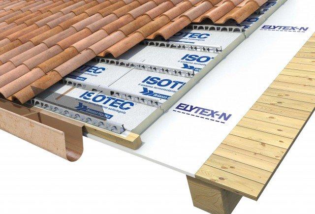 Pannello isolante per tetto ventilato Isotec di Brianza Plastica