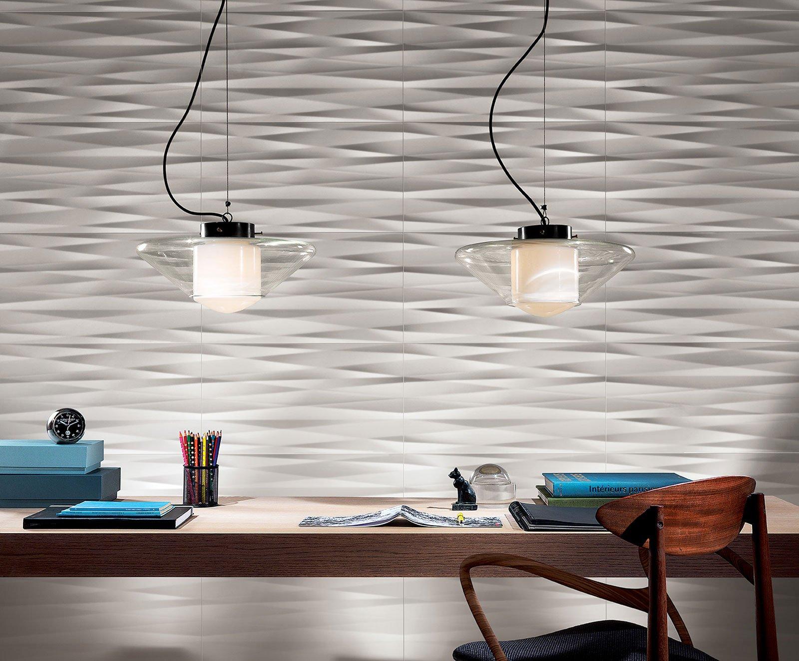 Piastrelle 3d non solo total white cose di casa for Piastrelle per parete cucina