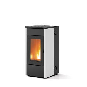 Stufa e pellet Amy è ideale per riscaldare piccoli ambienti o locali ben isolati con bassi fabbisogni termici.