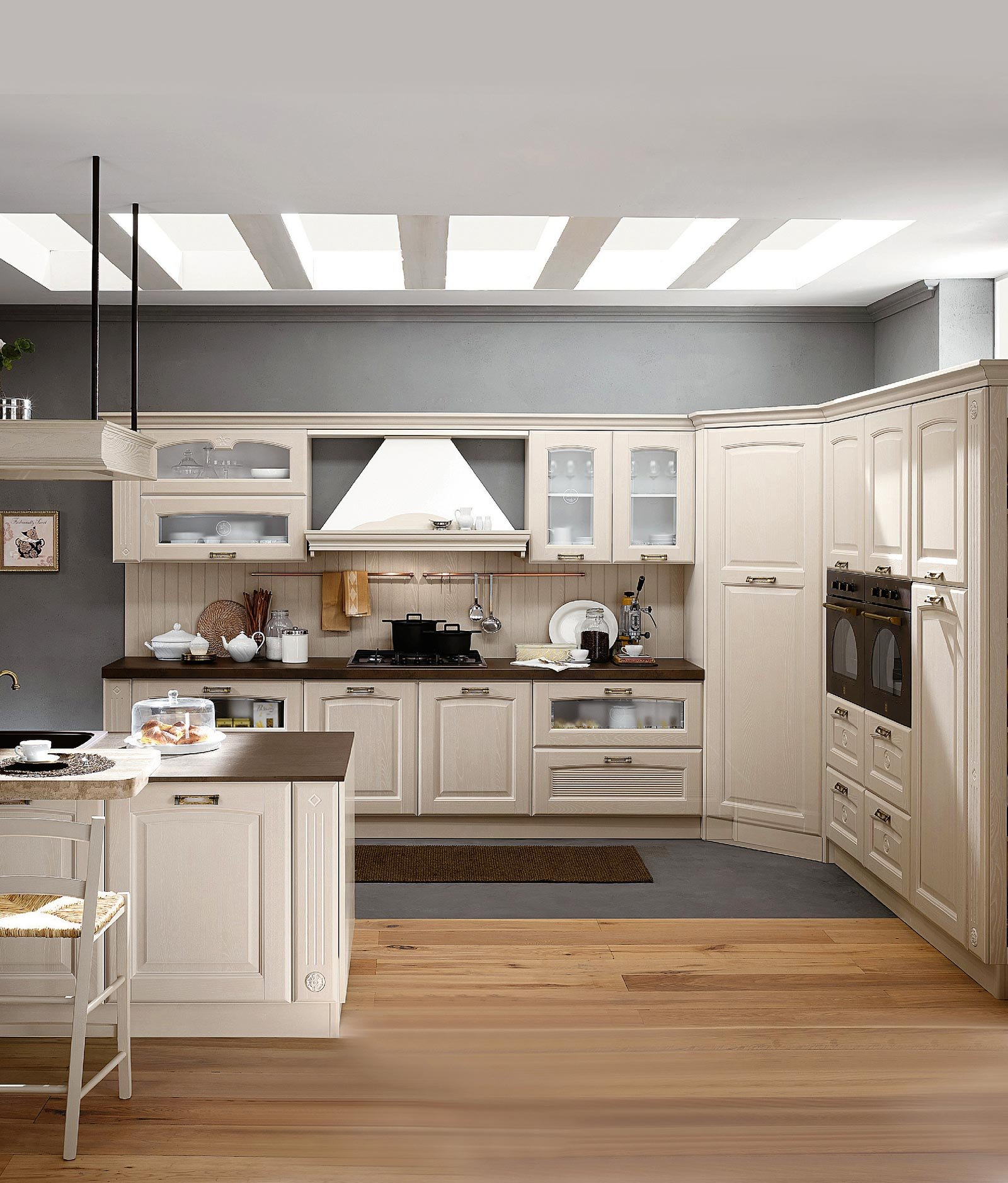 Idee per realizzare tappeto cucina - Cucine moderne scure ...
