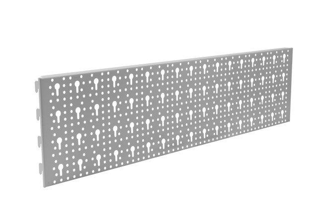 I pannelli per pareti Workshop di Pircher, componibili, si possono completare con ganci e cremagliere; misurano 80 x 20 cm e costano 13,80 euro. www.pircher.eu