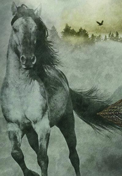 Della coll. Muralto Decoskin di Jannelli&Volpi il pannello che raffigura il cavallo è in vinilico su supporto in tnt; misura 136 x 300 cm e costa 299 euro. www.jannellievolpi.it