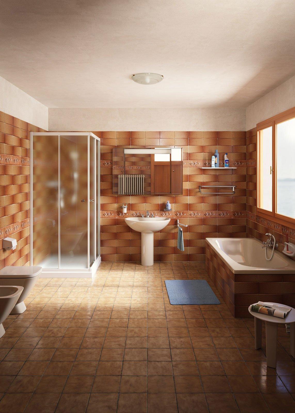 Design cambiare piastrelle bagno : Rifare il bagno senza togliere le piastrelle e con piccoli ...