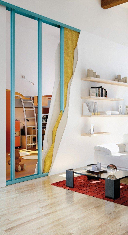 La lastra Habito Activ'Air di Gyproc, adatta per pareti divisorie, offre elevato isolamento termoacustico. www.gyproc.it