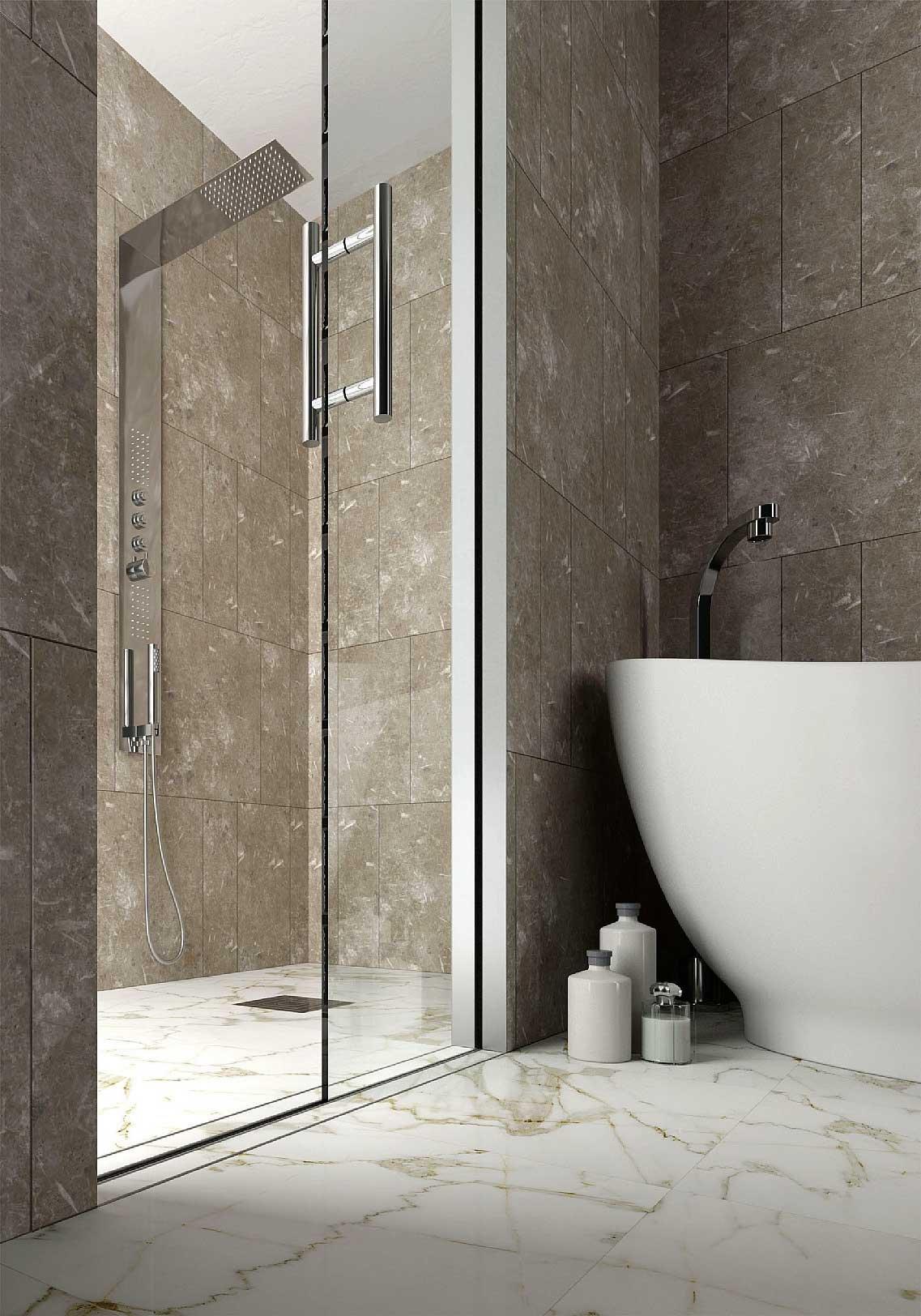 Bagno 20 soluzioni per avere pi comfort e funzionalit - Pannelli per rivestimento interno doccia ...