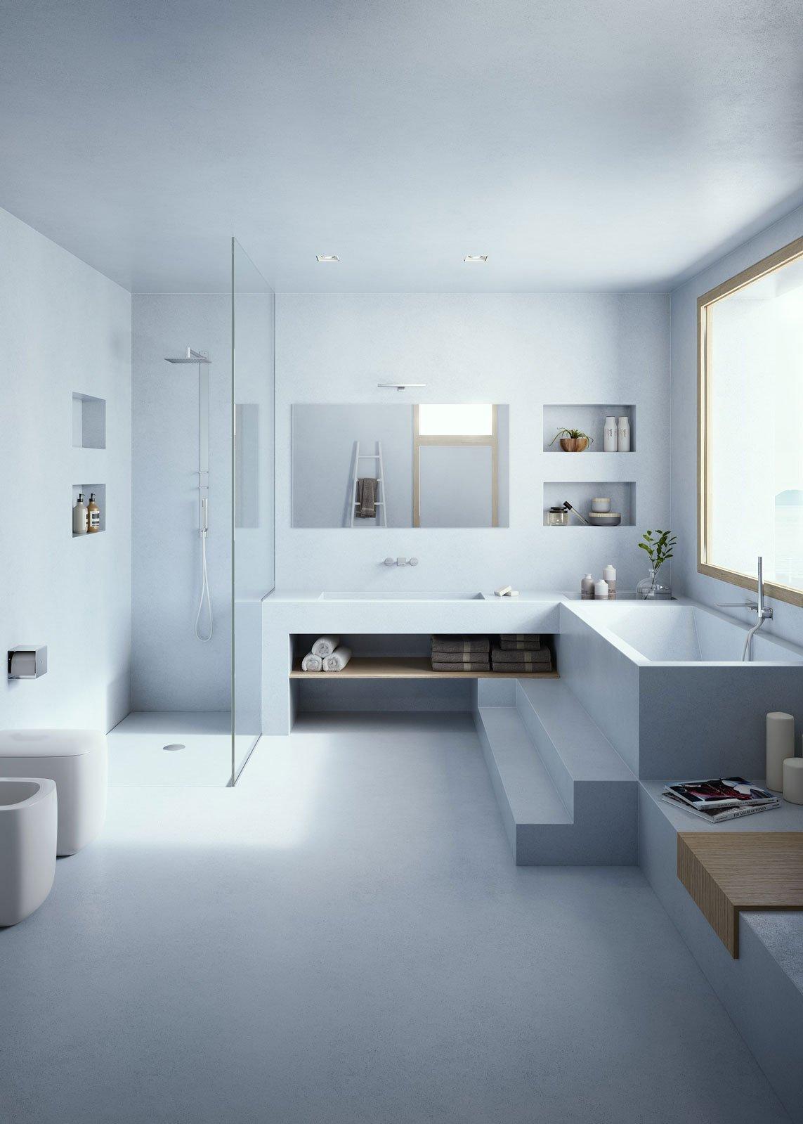 Rifare il bagno senza togliere le piastrelle e con piccoli - Resina piastrelle bagno ...