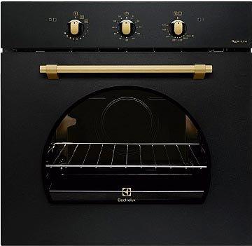 Della linea Rustico, il forno a gas FR13GG di Electrolux è in classe A+. Completo di teglia InfiSpace™ e grill elettrico, misura L 59,4 x P 54,8 x H 58,9 cm. www.electrolux.it