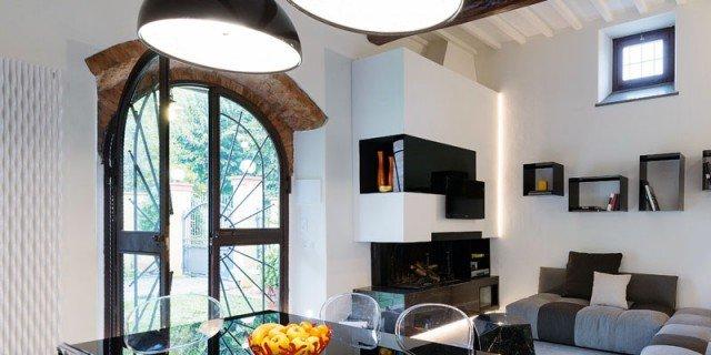 65 mq un 39 ex cascina effetto loft cose di casa for Arredo bagno con due lavelli