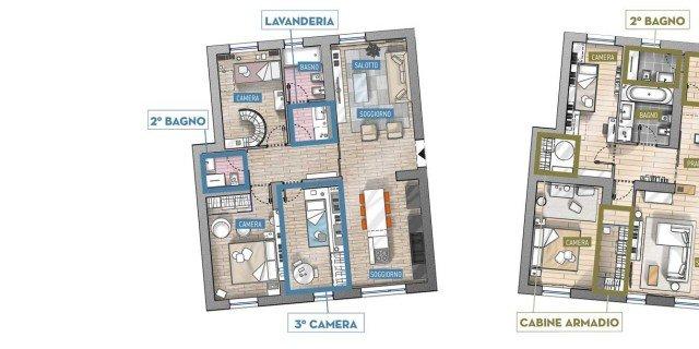 Progetti case interventi sugli ambienti cose di casa for Cose di casa progetti