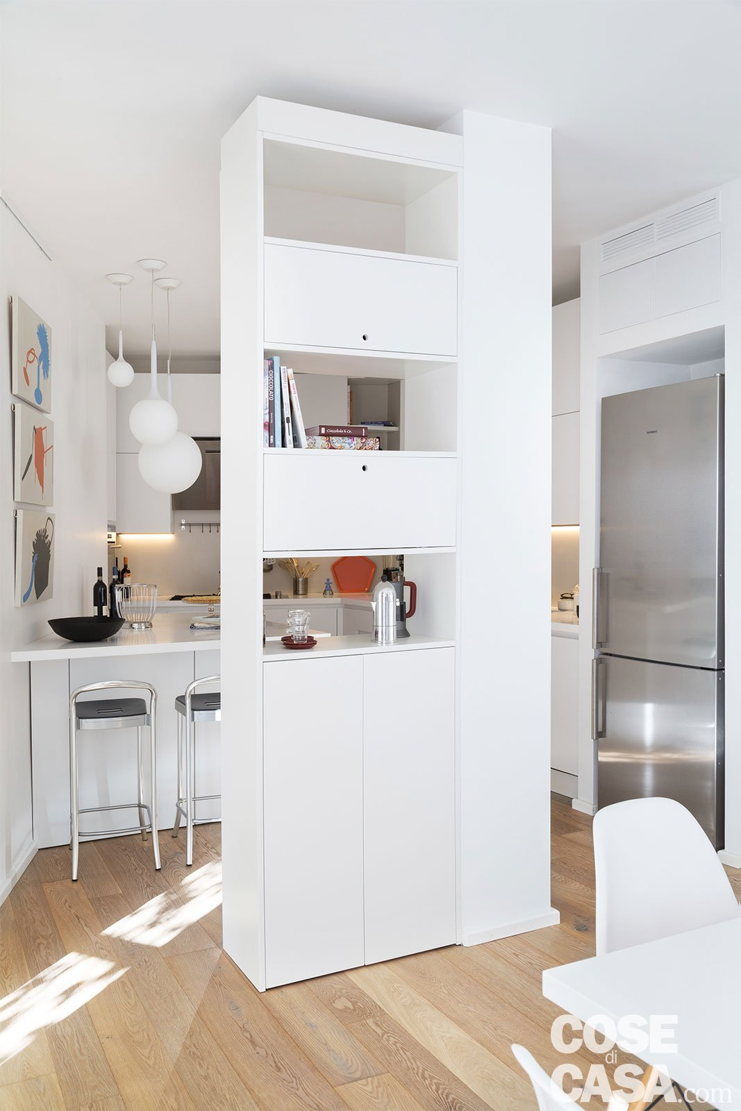 130 mq casa studio con soluzioni a scomparsa cose di casa - Soluzioni cucina ...