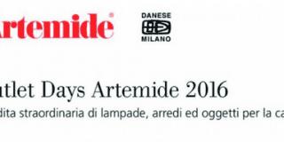 Svendita speciale di Artemide e Danese: Outlet Days 2016