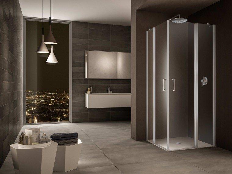 Box doccia linee minimal e perfetta tenuta all 39 acqua cose di casa - Box doccia salvaspazio ...