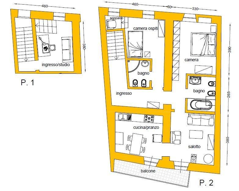 Restauro conservativo 100 mq di soluzioni da copiare - Progetto casa fossato di vico ...