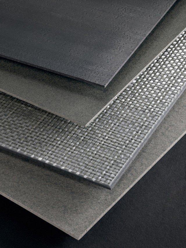 La nostra scelta Per rivestimentie pavimenti,il gres porcellanato compatto ultrasottile, Slimtech di Lea Ceramiche, facile da posare, è disponibile in lastre finoa 300x100 cm(spessore 3 mm).