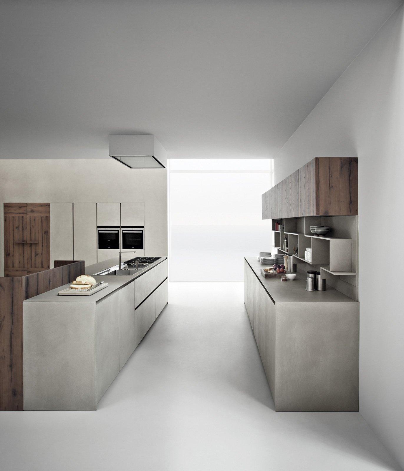 Piani di lavoro innovativi per la cucina cose di casa - Piani cucina cemento ...