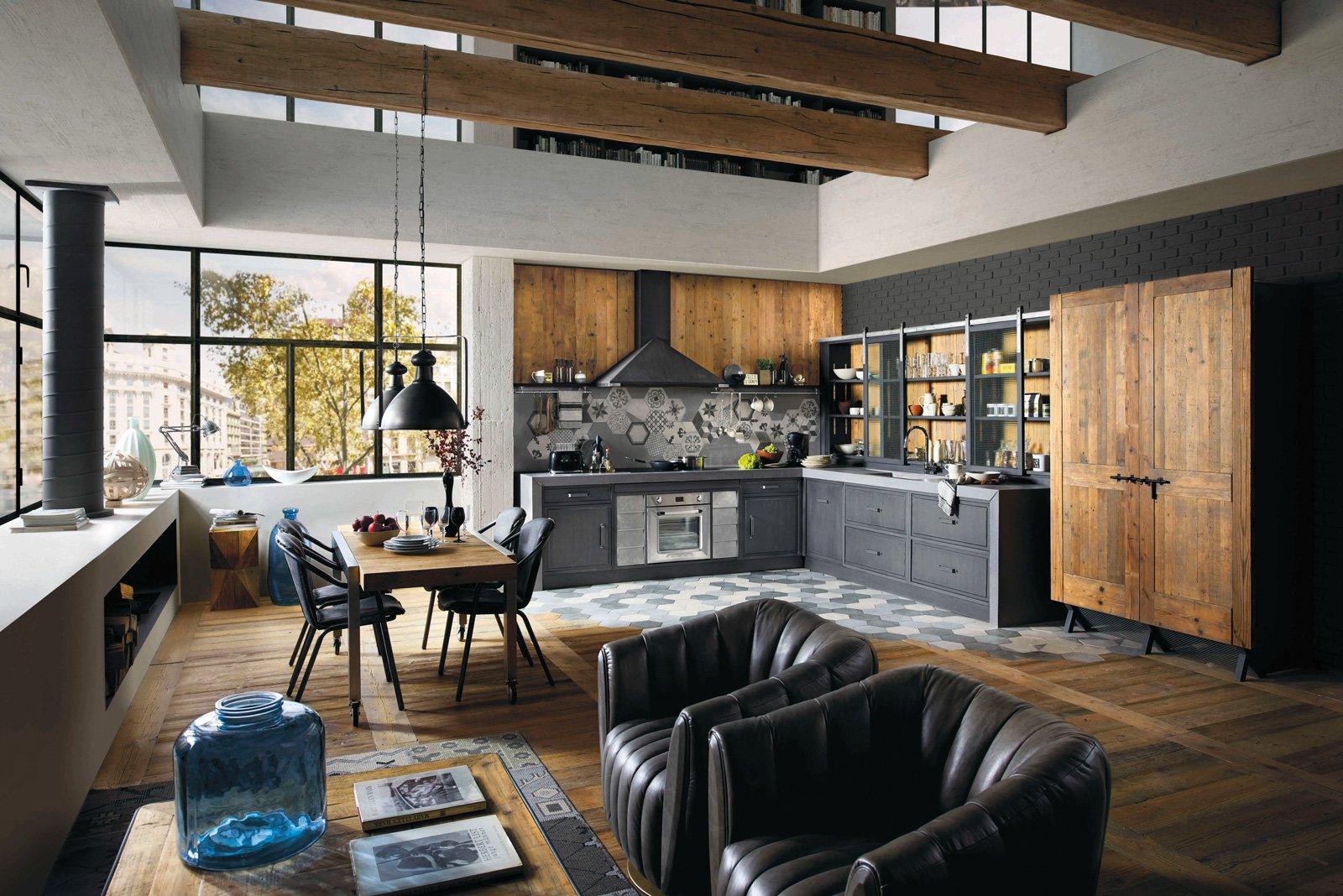 cucine in stile industriale materiche e vissute cose di casa. Black Bedroom Furniture Sets. Home Design Ideas