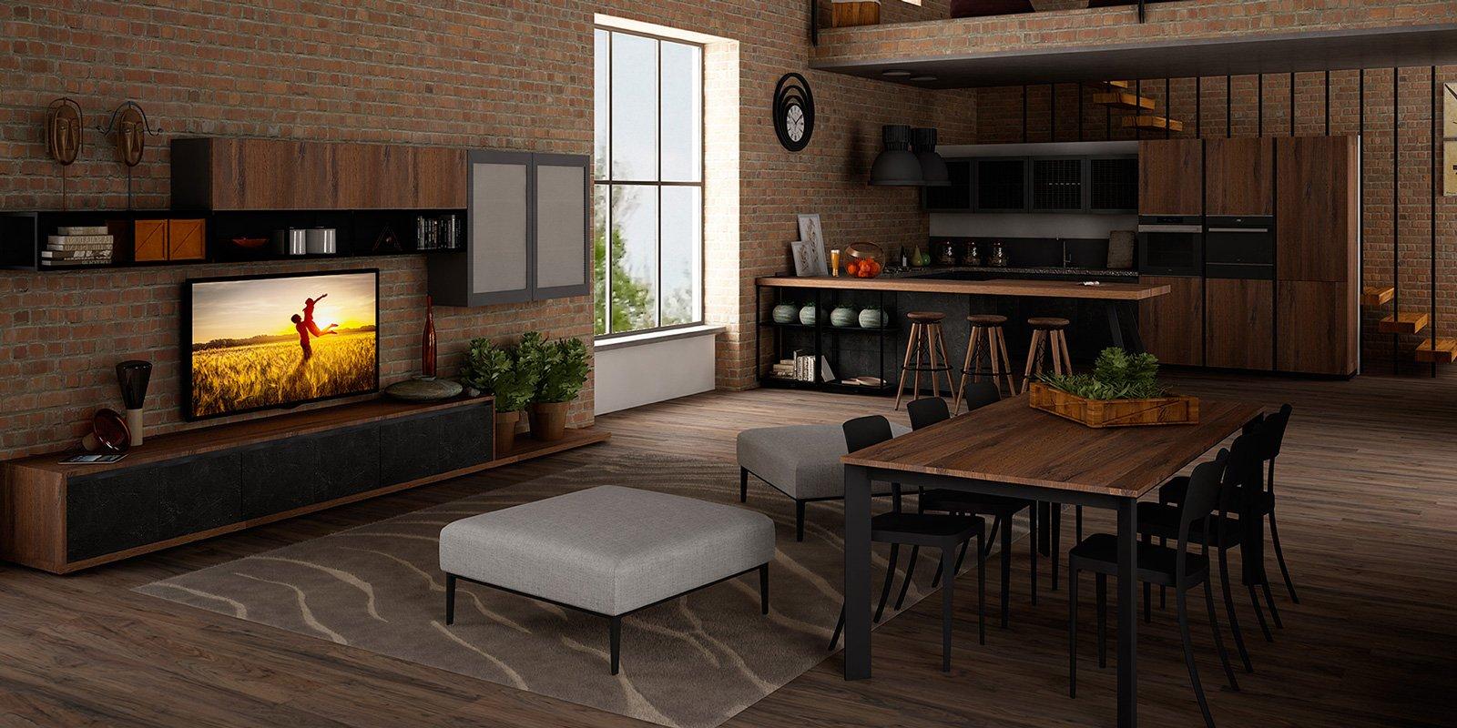 Cucine in stile industriale materiche e vissute cose di for Immagini mobili
