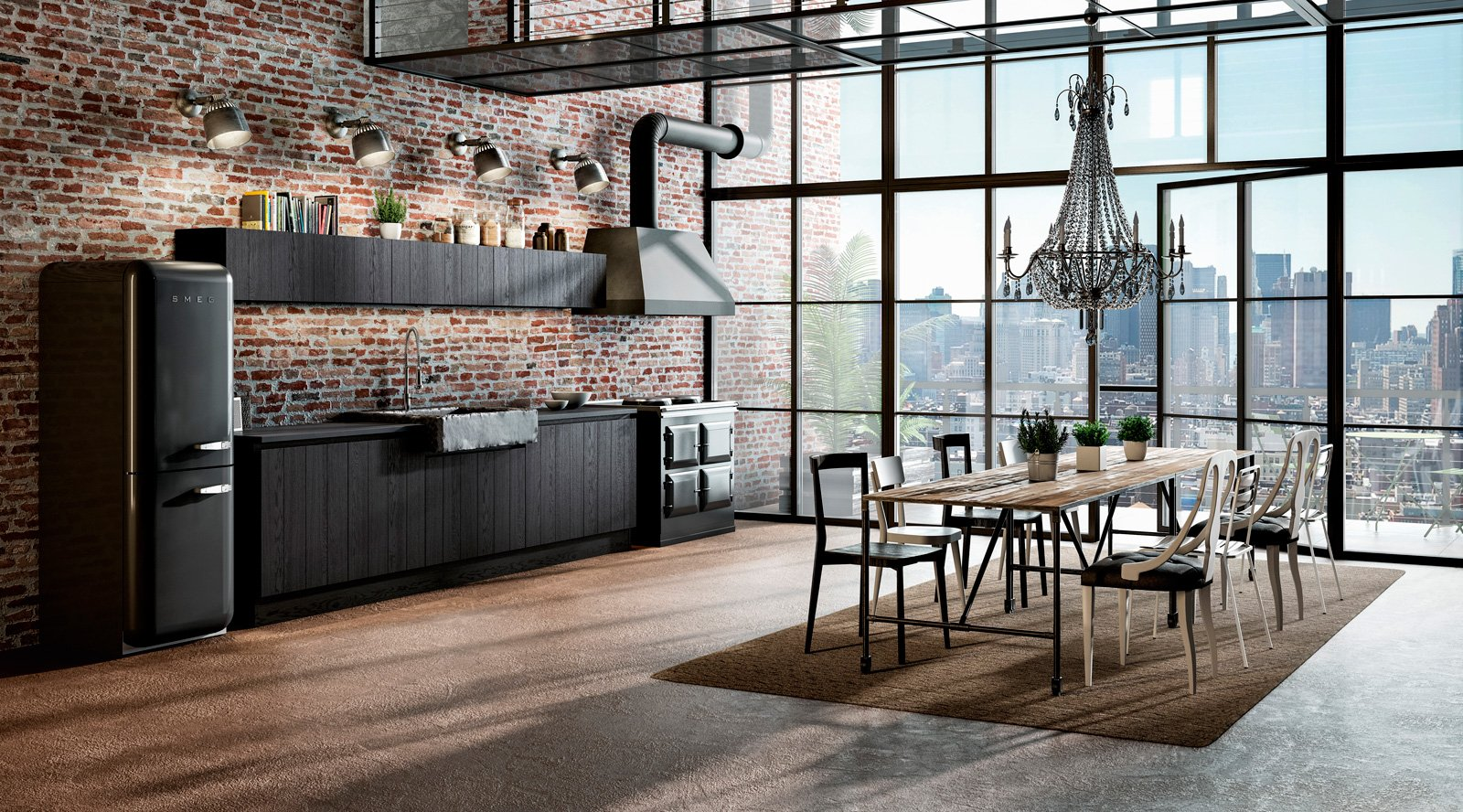 Cucine in stile industriale materiche e vissute cose di casa - Arredi particolari per casa ...