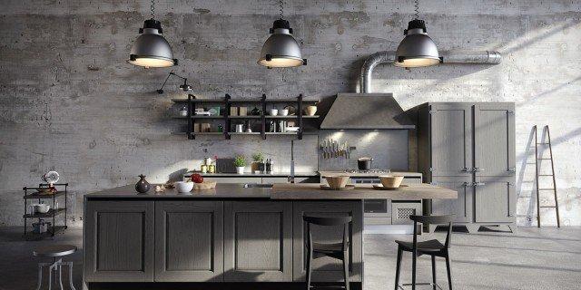 Cucine in stile industriale, materiche e vissute