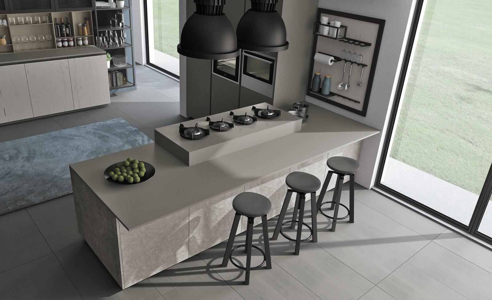 Piani di lavoro innovativi per la cucina cose di casa for Piano cucina in cemento