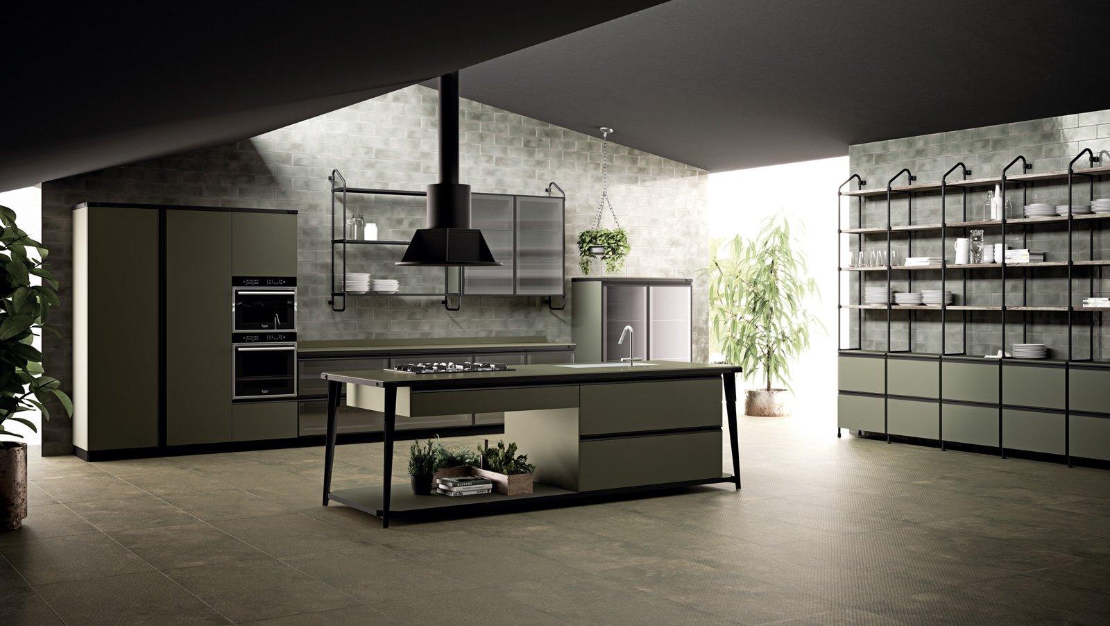 Cucine in stile industriale materiche e vissute cose di casa - Cucine salone del mobile 2017 ...