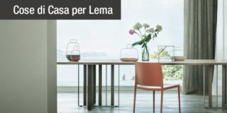 Design per la zona pranzo: i tavoli Lema, rettangolari e rotondi