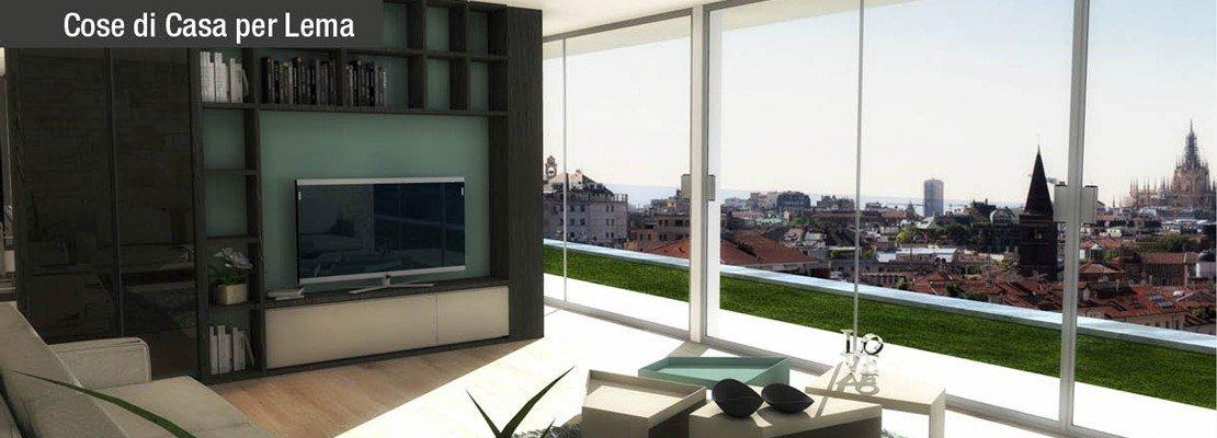Dividere soggiorno e cucina senza pareti. un progetto in 3d   cose ...